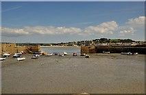 SW5130 : Marazion : St Michael's Mount harbour by Lewis Clarke