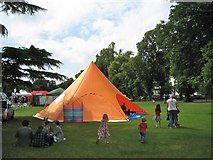 SP3165 : Orange tent, Pump Room Gardens by Robin Stott