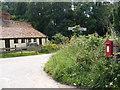TM4465 : Onners Lane & Flash Corner George V Letterbox by Geographer