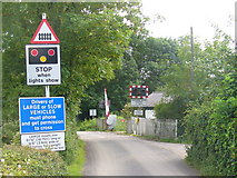TQ2151 : Rectory Lane Level Crossing Approach by Colin Smith