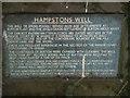 SJ3174 : Hampstons Well marker stone by Salford Sal