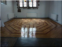 NZ0516 : St Mary's Parish Church, Barnard Castle. Labyrinth by Alexander P Kapp