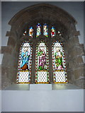 NZ0516 : St Mary's Parish Church, Barnard Castle. Stained glass window by Alexander P Kapp