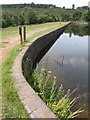 SY0483 : Dam, Squabmoor Reservoir by Derek Harper