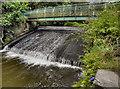 SD7311 : Bradshaw Brook, Bridge and Weir by David Dixon