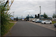 SK1515 : Entrance to the Gas Compressor Station on the A513 by Mick Malpass