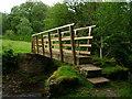NY8313 : Footbridge over Argill Beck by John H Darch