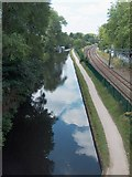 SP0483 : Canal and rail track, University of Birmingham campus by Neil Theasby