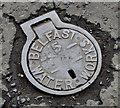 J3673 : Belfast Water Works access cover, Belfast by Albert Bridge