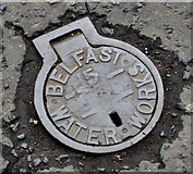 J3673 : Belfast Water Works access cover, Belfast by Albert Bridge