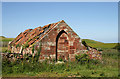 NT7870 : A ruined cottage at Old Linhead by Walter Baxter