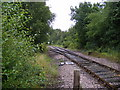 TM4362 : Looking along the rails towards Leiston by Adrian Cable