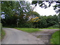 TM2653 : Caters Road & the footpath to Scott's Lane by Adrian Cable