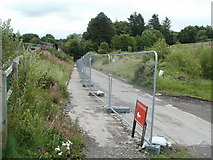 SO2508 : Station approach road, Blaenavon (High Level) railway station by Jaggery