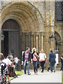 NZ2742 : Tourists outside cathedral main entrance by rob bishop