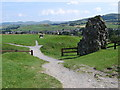 SD5292 : Kendal - footpath north of Castle by Dave Bevis