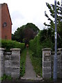 TM4462 : Footpath to Abbey Lane by Adrian Cable