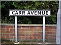 TM4462 : Carr Avenue sign by Adrian Cable