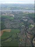 NS3980 : Vale of Leven and the River Clyde from the air by Thomas Nugent