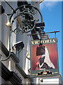 TV6299 : Victoria Hotel sign by Oast House Archive