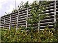 J3876 : Retaining wall, Belfast by Albert Bridge