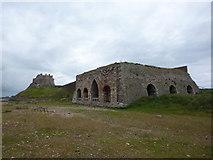 NU1341 : Lindisfarne Castle and limekiln, Holy Island. by Alexander P Kapp