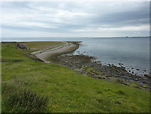 NU1341 : View towards Castle Point, Holy Island by Alexander P Kapp