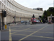 TQ2882 : The eastern 'arm' of Park Crescent by Richard Law