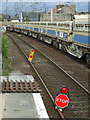 NS4864 : Road closed at Gilmour Street station by Thomas Nugent