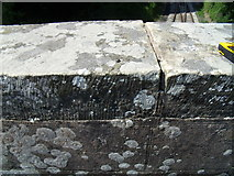 SJ1143 : Rivet benchmark on bridge parapet, Carrog by Meirion