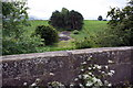 SE0290 : View over bridge parapet of dismantled railway trackbed by Roger Templeman