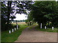 TM4365 : Footpath to Hawthorn Road & entrance to Theberton Hall by Adrian Cable