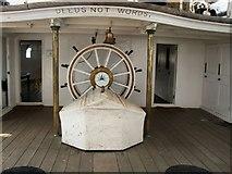TQ7569 : On board the HMS Gannet by Paul Gillett