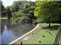 TQ2877 : Lake in Battersea Park by PAUL FARMER