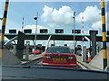 SK0007 : Norton Canes: westbound toll plaza on the M6(Toll) by Chris Downer