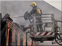 J3472 : Fire fighter, Belfast by Albert Bridge
