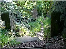 SE0026 : Old gateway on Hebden Royd Footpath 18, Mytholmroyd by Humphrey Bolton