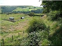 SE0026 : Hebden Royd Footpath 18 at Burlees, Mytholmroyd by Humphrey Bolton