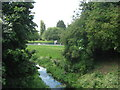 TQ4667 : River Cray and pond by David Anstiss