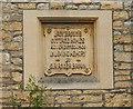 ST8557 : Memorial tablet, almshouses, Trowbridge by Derek Harper