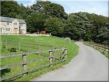 SE0026 : Hebden Royd Footpath 15 at Souter House, Mytholmroyd by Humphrey Bolton