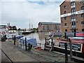 SO8218 : Museum boats moored in the Barge Arm by Christine Johnstone