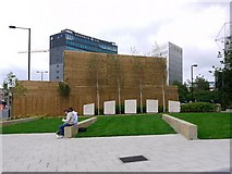NZ2464 : Sir Bobby Robson Memorial Garden, Gallowgate by Andrew Curtis