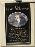 TQ6668 : Sign at The Leather Bottle by Oast House Archive