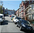 ST3087 : Steep top end of Manley Road, Newport by Jaggery