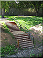 TQ3774 : Ladywell Fields: observation steps by Stephen Craven