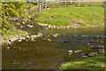 SD9455 : Confluence of Eshton Beck and Flasby Beck by Tom Richardson
