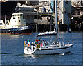 J3576 : Yacht at Belfast docks by Rossographer