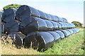 SW7114 : Silage bales at Prazegooth by Rod Allday