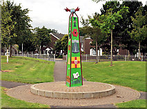 J3775 : Artwork, Sydenham, Belfast (1) by Albert Bridge